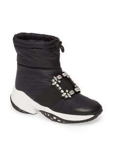 Roger Vivier Viv Run Crystal Buckle Snow Boot (Women)