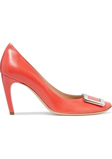 Roger Vivier Woman Belle De Nuit Leather Pumps Papaya