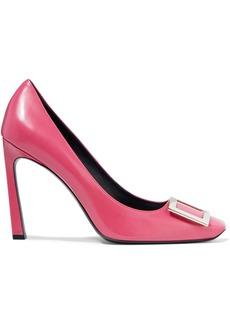 Roger Vivier Woman Belle Vivier Troupette Buckle-embellished Leather Pumps Pink
