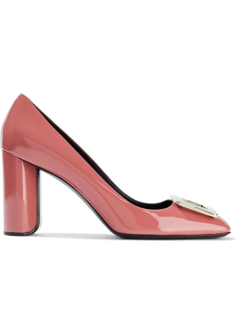 Roger Vivier Woman Decollete Belle Buckle-embellished Patent-leather Pumps Coral