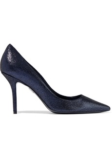 Roger Vivier Woman Decollete Privilege Coated-suede Pumps Midnight Blue