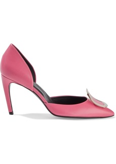 Roger Vivier Woman Dorsay Leather Pumps Pink