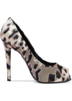 Roger Vivier Woman Leopard-jacquard Platform Pumps Animal Print