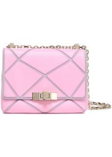 Roger Vivier Woman Prismick Two-tone Leather And Suede Shoulder Bag Pink