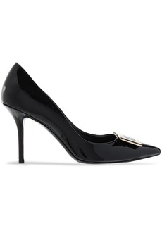 Roger Vivier Woman Privilege 85 Buckle-embellished Patent-leather Pumps Black