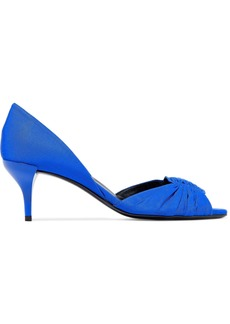 Roger Vivier Woman Ruched Faille Pumps Bright Blue