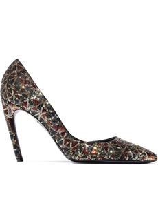 Roger Vivier Woman Sequined Satin Pumps Multicolor