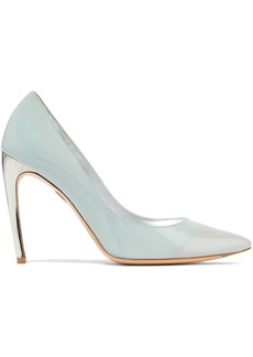Roger Vivier Woman Sexy Choc 100 Dégradé Patent-leather Pumps Sky Blue