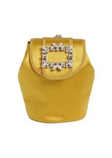Roger Vivier Rv Broche Mini Satin Backpack