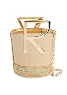 Roger Vivier Rv Linen Lamè Bucket Bag