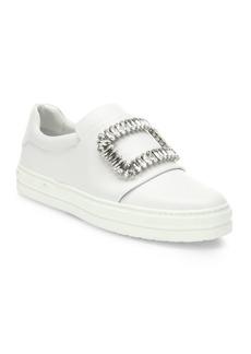 Roger Vivier Sneaky Viv Crystal-Buckle Sneakers