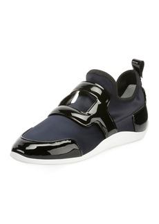 Roger Vivier Sporty Viv Leather Buckle Sneakers