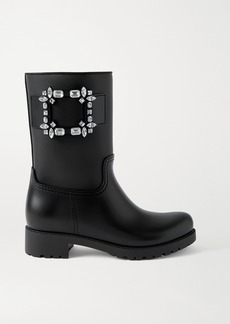 Roger Vivier Tempête Viv Crystal-embellished Rubber Rain Boots