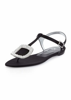 Roger Vivier Thong Chips Flat Satin Sandals