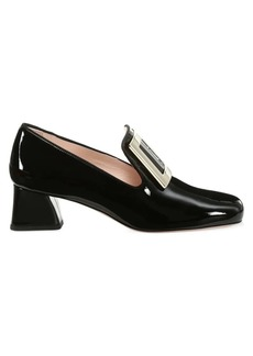 Roger Vivier Tres Vivier Patent Leather Loafers