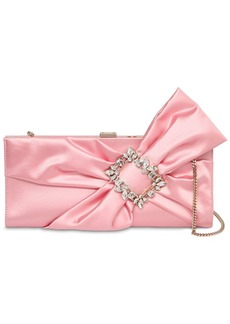Roger Vivier Trianon Satin Clutch W/ Embellished Bow