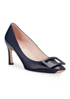 Roger Vivier Trompette Covered Buckle Pumps  Navy