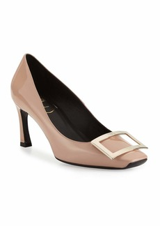 Roger Vivier Trompette Patent Leather Pumps  Nude