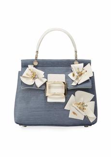Roger Vivier Viv Flower Patch Cabas Mini Top Handle Bag