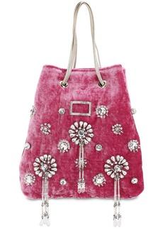 Roger Vivier Viv Pocket Grand Soir Embellished Bag