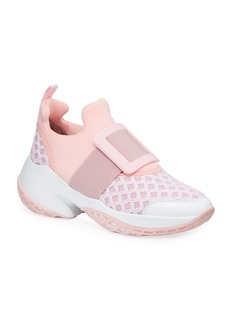 Roger Vivier Viv' Run Knit Platform Sneakers