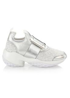 Roger Vivier Viv Run Lacquer Buckle Sneakers