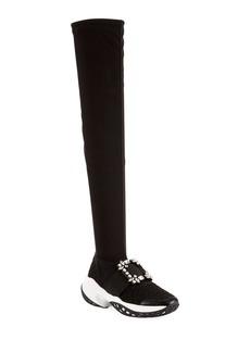 Roger Vivier Viv' Run Over-the-Knee Sock Sneakers