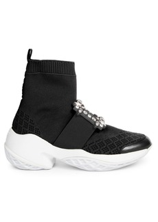 Roger Vivier Viv Run Strass Buckle Sock Sneakers