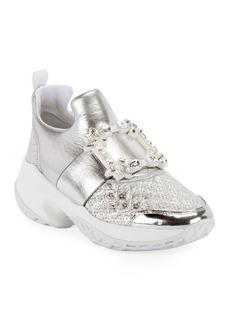 Roger Vivier Viv' Run Strass Buckle Sneakers