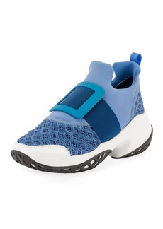 Roger Vivier Viv' Run Stretch Buckle Sneakers