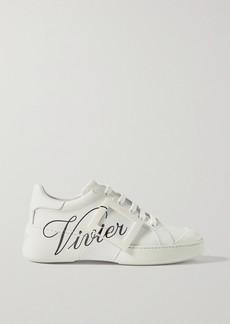 Roger Vivier Viv Skate Logo-print Leather Sneakers