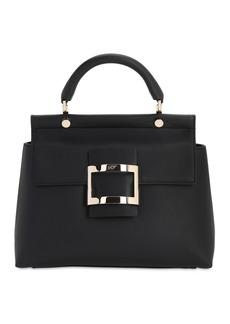 Roger Vivier Vive Kabat Leather Top Handle Bag