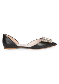 Roger Vivier Wings Leather D'Orsay Flats