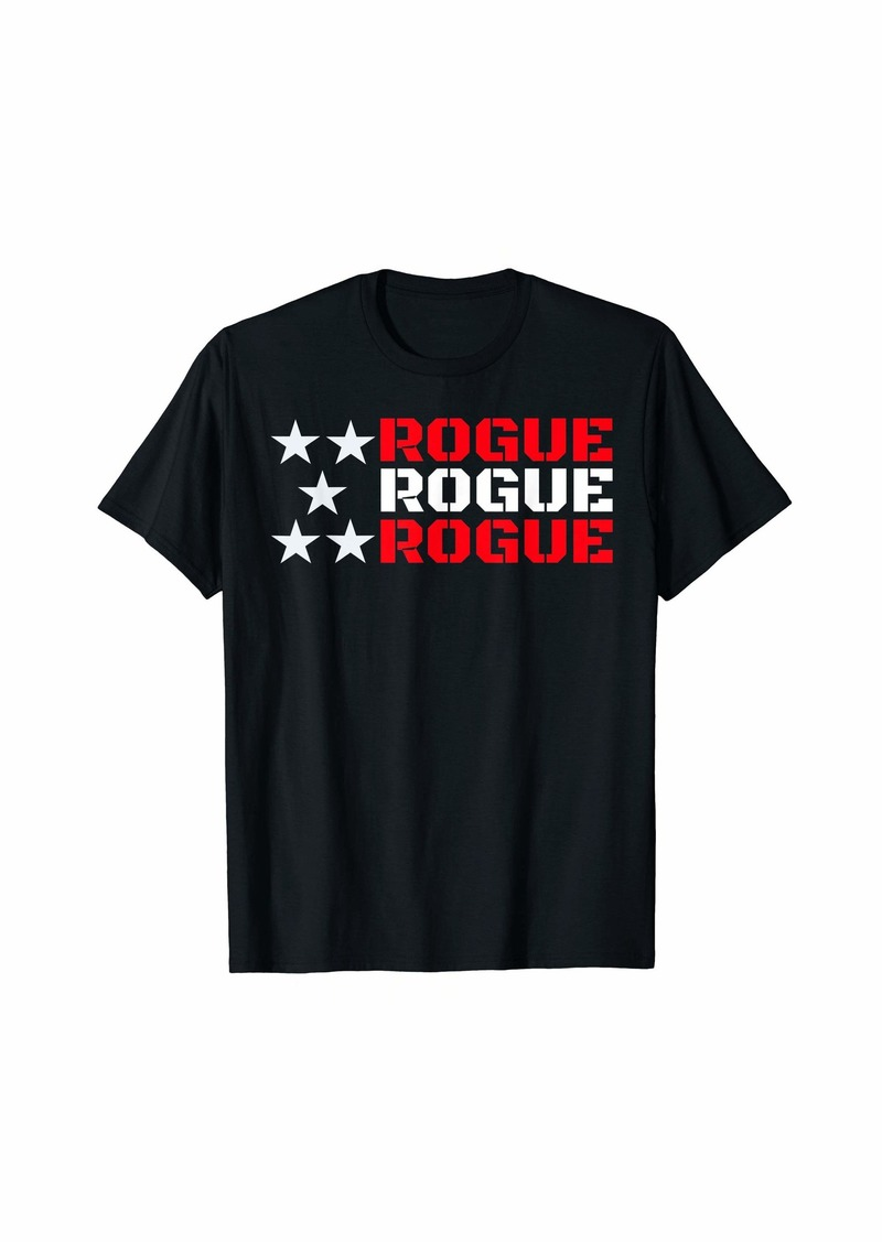 Rogue Military T-Shirt For Men Women Kids Cool Rebel Warrior T-Shirt