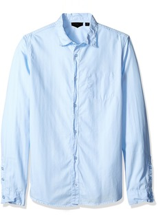 ROGUE Men's Button Up Solid Woven Shirt