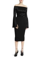 Roland Mouret Anina Plisse Off-The-Shoulder Dress
