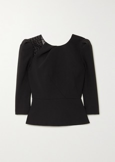 Roland Mouret Ashridge Lace-trimmed Crepe Top