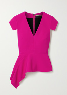 Roland Mouret Breen Asymmetric Stretch-crepe Peplum Top