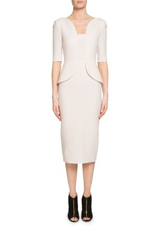 Roland Mouret Comberton Peplum Sheath Dress