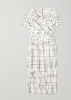Roland Mouret Darland Checked Crepe Dress