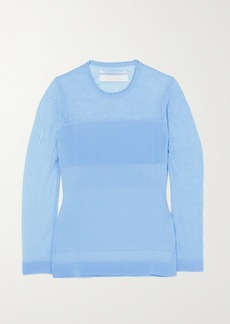 Roland Mouret Ellis Pointelle And Ribbed-knit Top