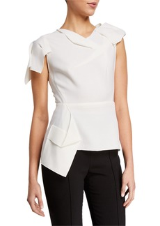 Roland Mouret Franklin Double-Wool Top