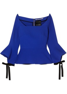 Roland Mouret Holden Off-the-shoulder Crepe Peplum Top