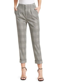 Roland Mouret Horley Cropped Checker Pants