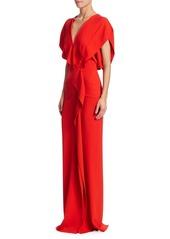Roland Mouret Lorre Layered Column Gown