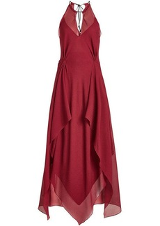 Roland Mouret Risby Floor Length Silk Gown