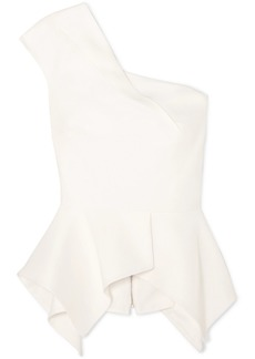 Roland Mouret Rodmell One-shoulder Crepe Peplum Top