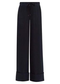 Roland Mouret Betterton checked-jacquard silk trousers