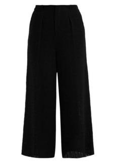 Roland Mouret Broadgate wide-leg open-weave cotton trousers