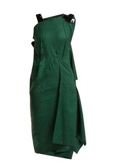 Roland Mouret Cedrela silk blend-jacquard asymmetric midi dress